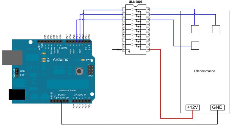 Projets domotiques dans la maison storck schema arduino for Alarme maison freebox